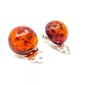 K0011 A 300x300 - Clips of natural amber -earrings