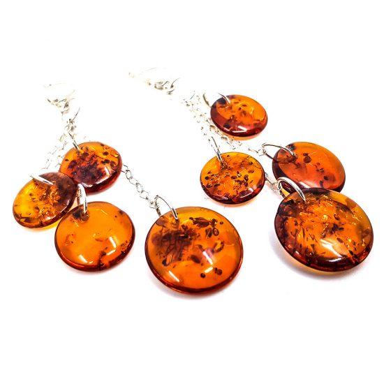 K0013 B 550x550 - Round silver earrings -earrings