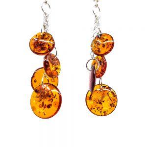 K0013 D 300x300 - Round silver earrings -earrings